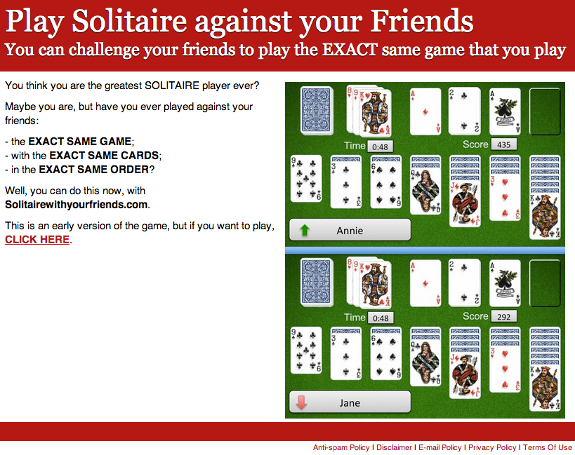 Solitaire test page