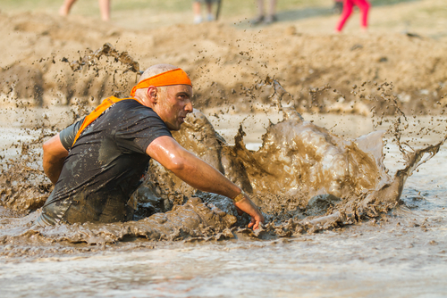 Running Man in Mud