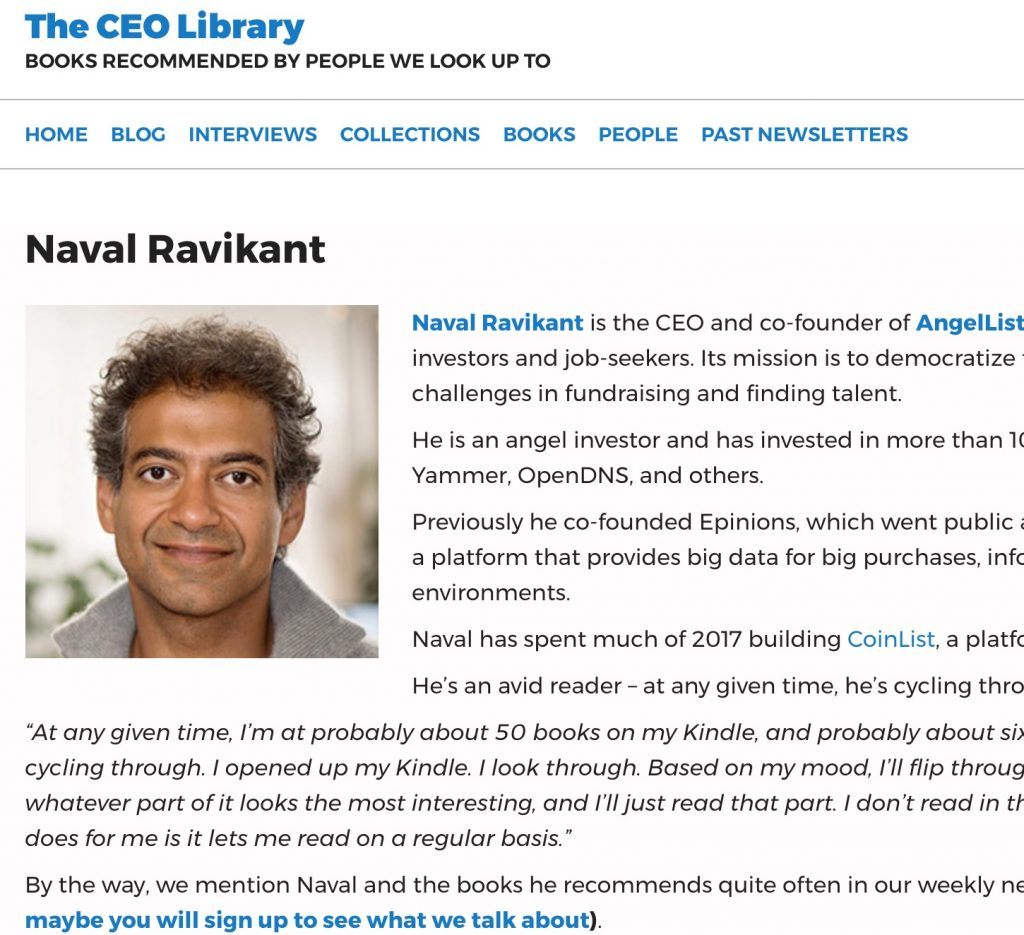 Naval Ravikant - The CEO Library