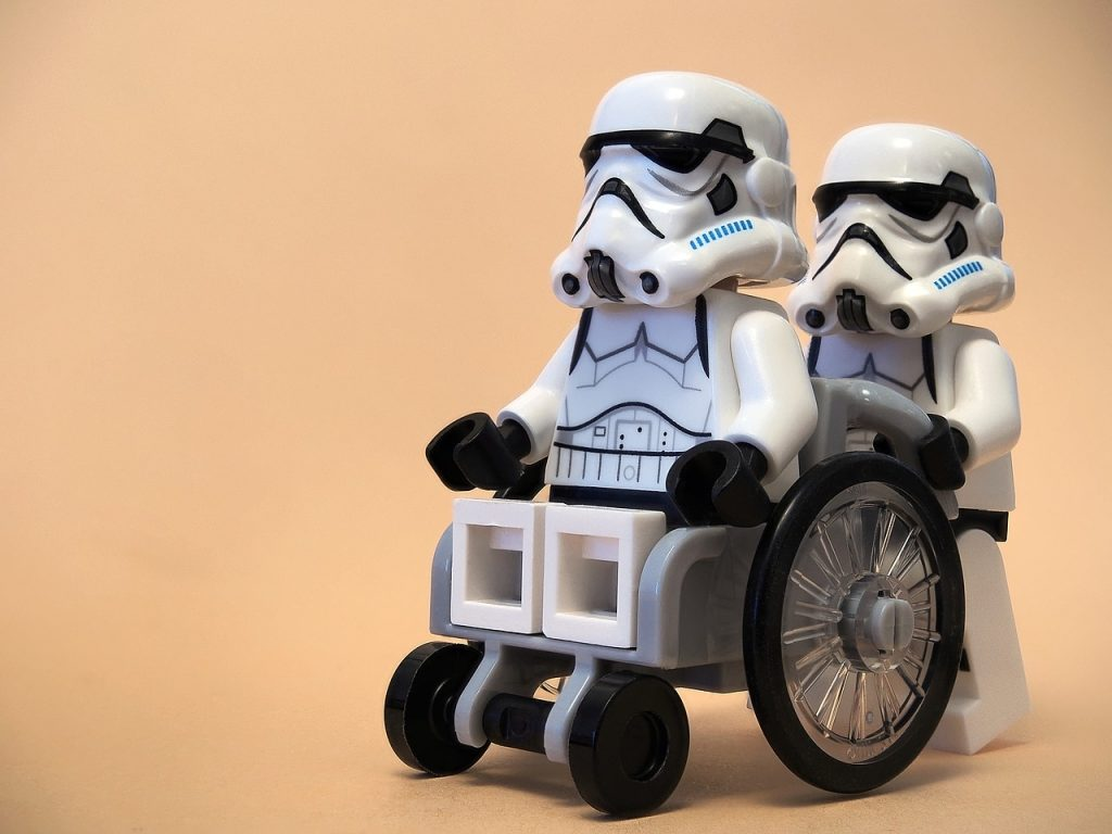 Things you shouldn't hear from your doctor - Stormtroopers lego wheel chair