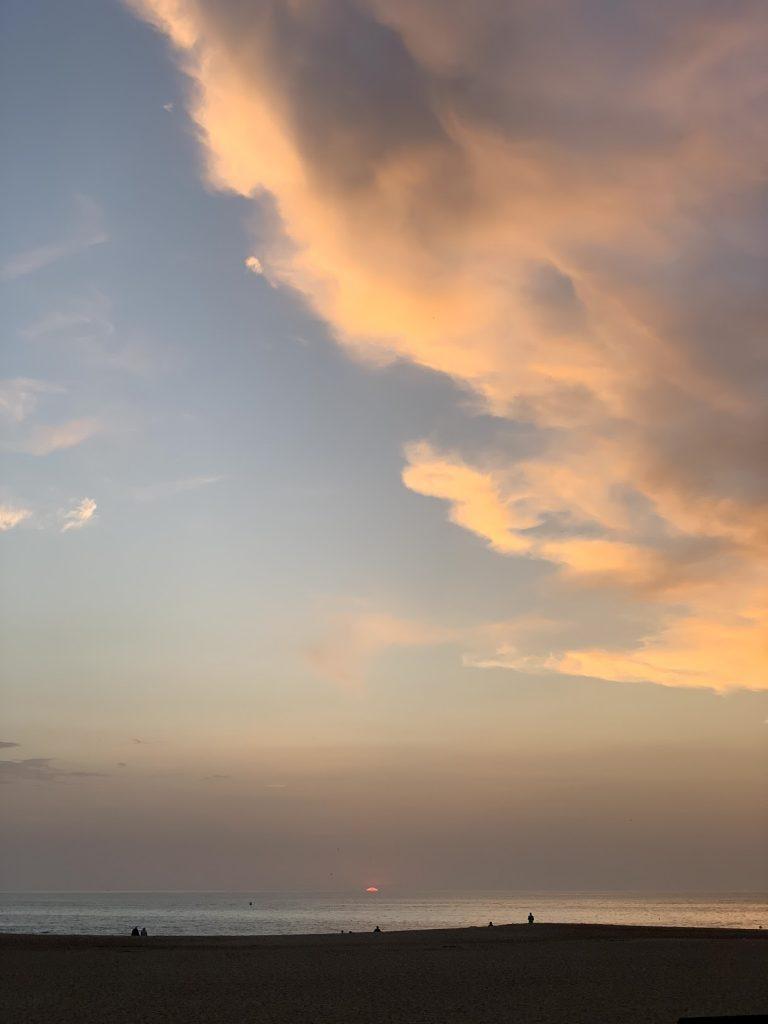 Sunset in Nazaré