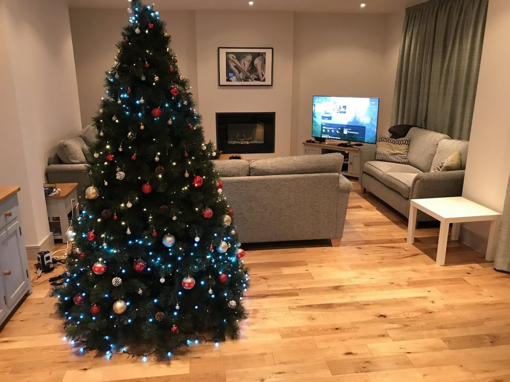 Christmas Tree in a Cozy apartment