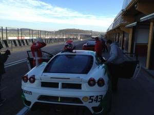 Ferrari - Kaspersky - Valencia circuit